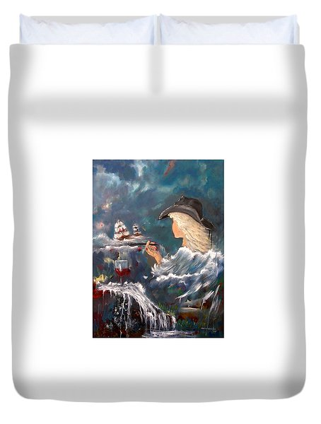 Ocean Wine Duvet Cover