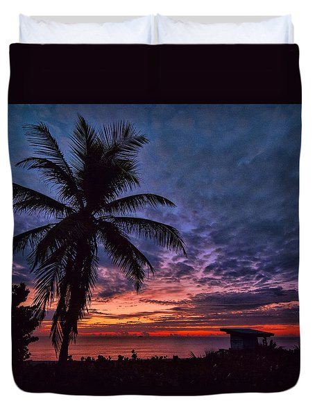 Duvet Cover featuring the photograph Oceanfront Before Sunrise by Don Durfee