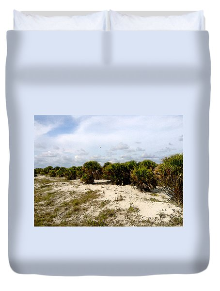 Duvet Cover featuring the painting Oceans Bluff   by Iconic Images Art Gallery David Pucciarelli