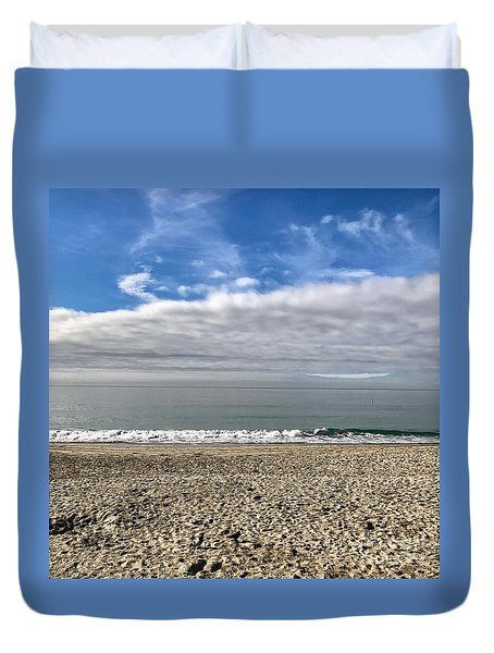 Ocean's Edge Duvet Cover by Kim Nelson