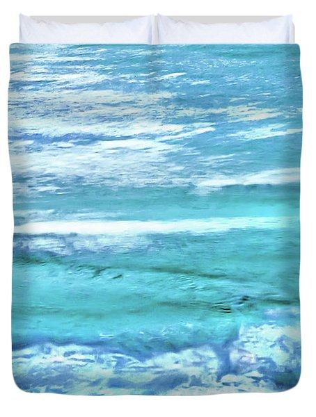 Oceans Of Teal Duvet Cover