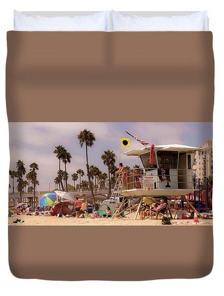 Oceanside Beach Duvet Cover