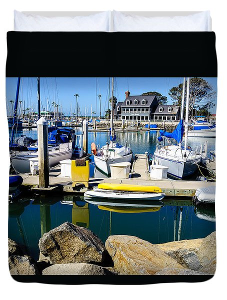 Oceanside Harbor 4 Duvet Cover