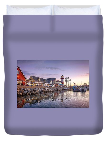 Oceanside Harbor Duvet Cover