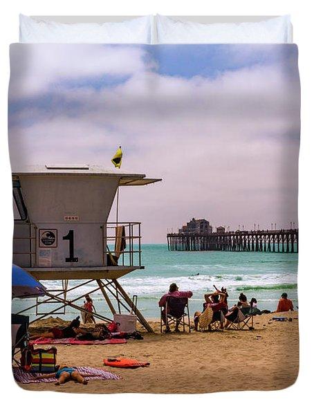 Oceanside Lifeguard Duvet Cover