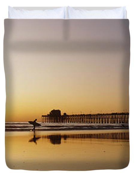 Oceanside Pier, California Duvet Cover by Bill Schildge - Printscapes