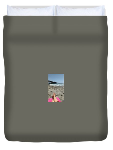 Oceanside Pier Duvet Cover
