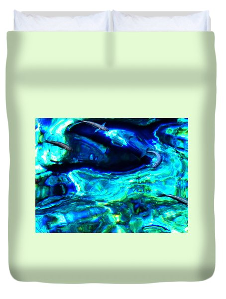 Duvet Cover featuring the photograph Ocean Reflections  by Colette V Hera  Guggenheim