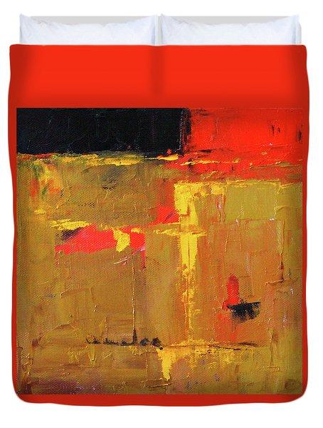 Ochre Abstract Duvet Cover