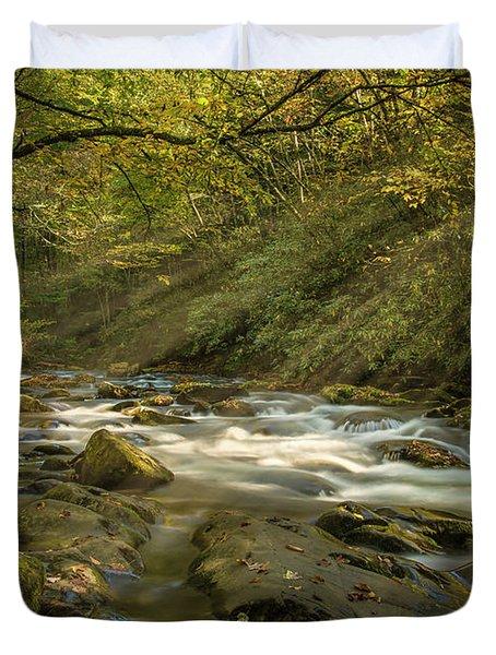 Oconaluftee River Duvet Cover