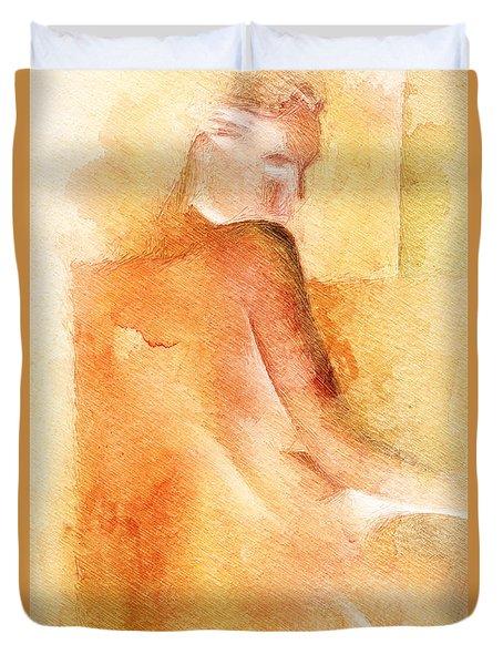 Ocra Shadow Duvet Cover
