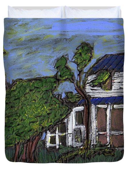 Ocracoke Island Light House Duvet Cover