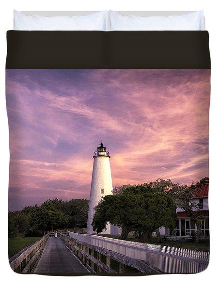 Ocracoke Lighthouse 01 Duvet Cover