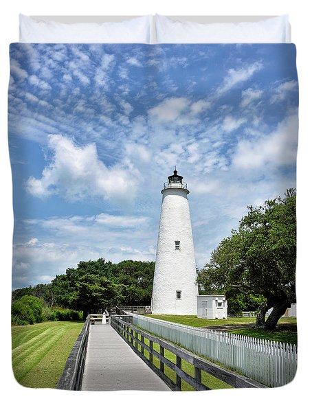 Ocracoke Lighthouse - Outer Banks Duvet Cover