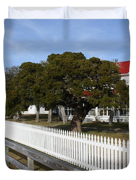 Ocracoke Lighthouse Duvet Cover by Tony Cooper