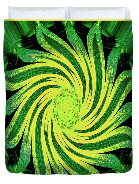 Duvet Cover featuring the digital art Octagonal Painting Put Into Motion by Merton Allen