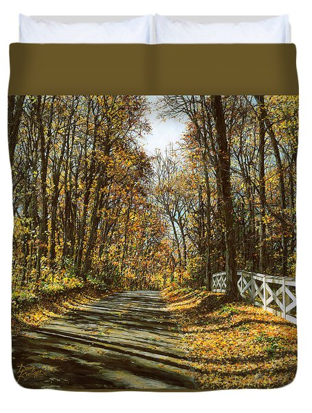 October Backroad Duvet Cover