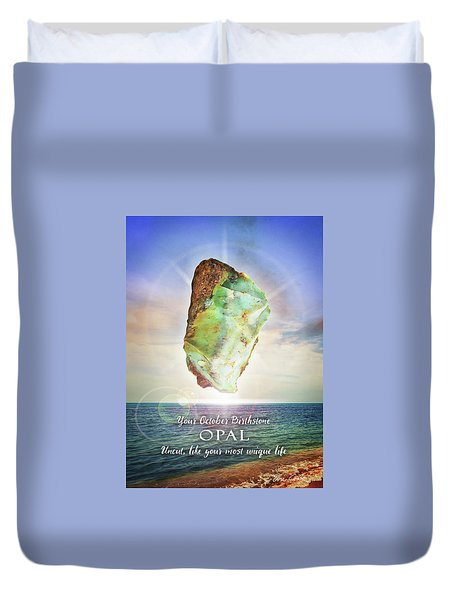 October Birthstone Opal Duvet Cover