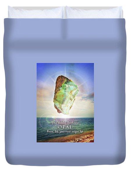 October Birthstone Opal Duvet Cover