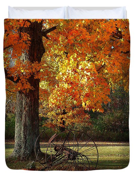 October Day Duvet Cover by Diane E Berry