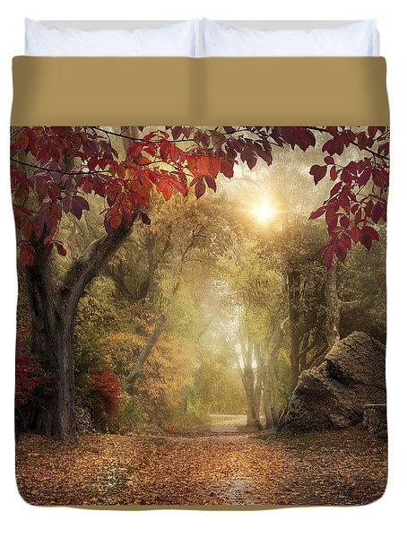 Duvet Cover featuring the photograph October Dreamer by Robin-Lee Vieira
