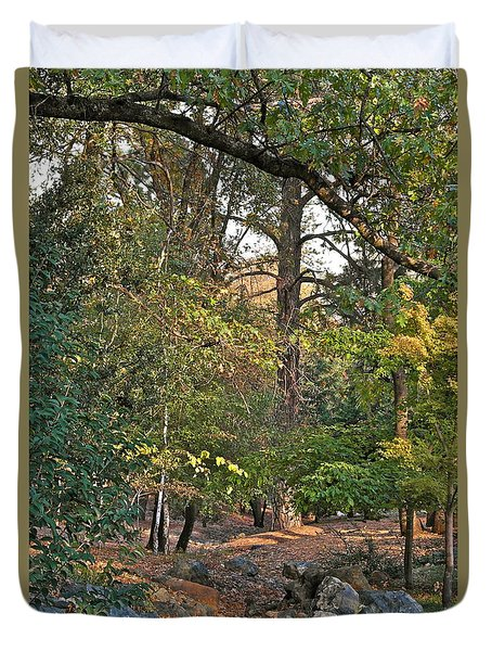 Duvet Cover featuring the photograph October Evening by Michele Myers