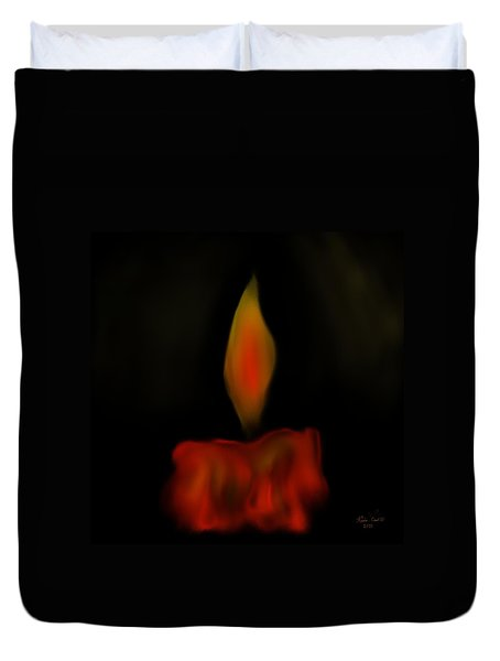 Duvet Cover featuring the painting October Flame by Kevin Caudill