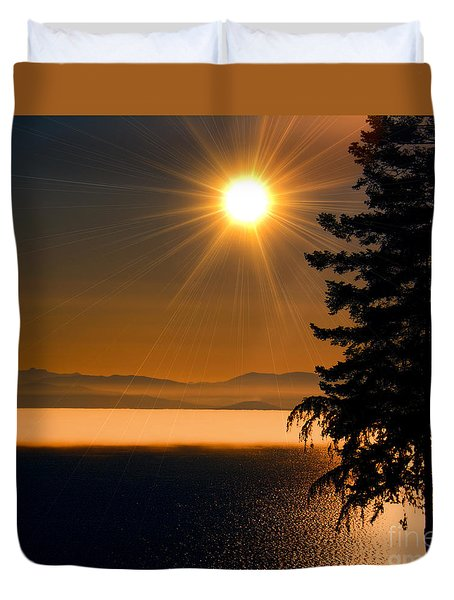 October Fog Duvet Cover by Elaine Hunter