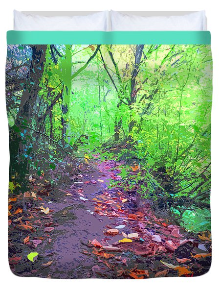 October Forest Pathway Duvet Cover