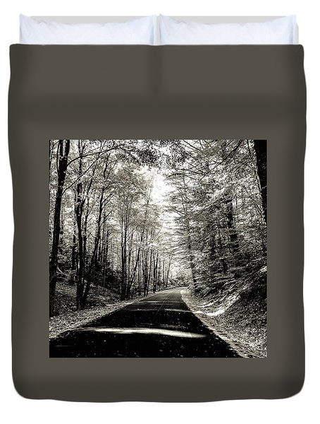 October Grayscale  Duvet Cover
