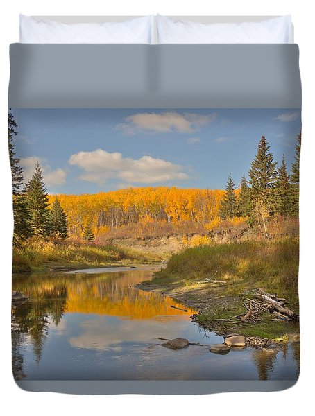 October Duvet Cover by Jim Sauchyn
