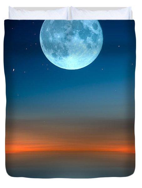 October Moon Duvet Cover