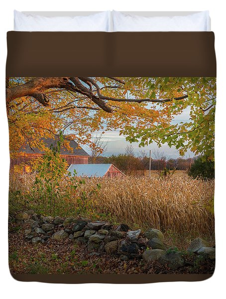 Duvet Cover featuring the photograph October Morning 2016 by Bill Wakeley