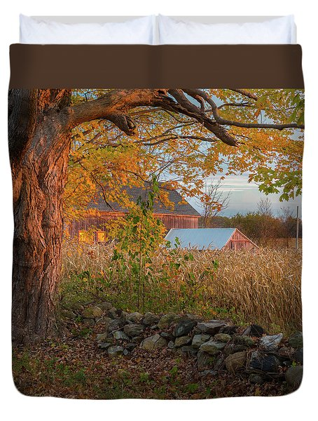 Duvet Cover featuring the photograph October Morning 2016 Square by Bill Wakeley