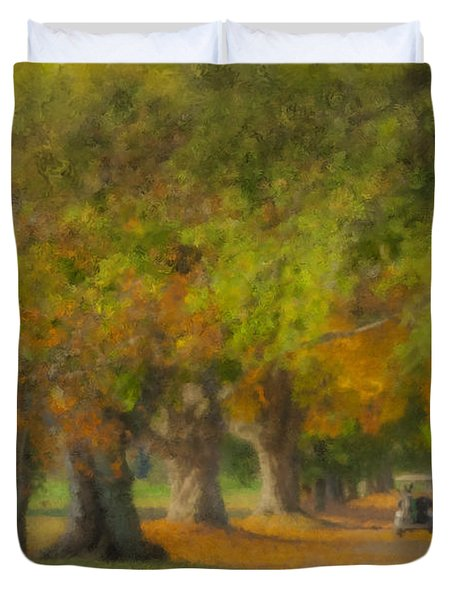 October Morning At Easton Country Club Duvet Cover