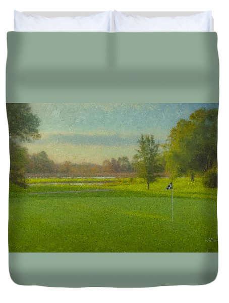 October Morning Golf Duvet Cover