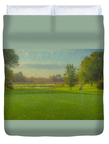 October Morning Golf Duvet Cover