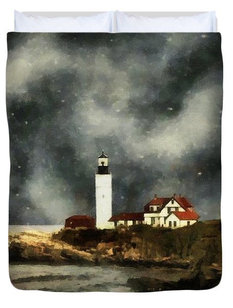 October Night, Portland Head Duvet Cover