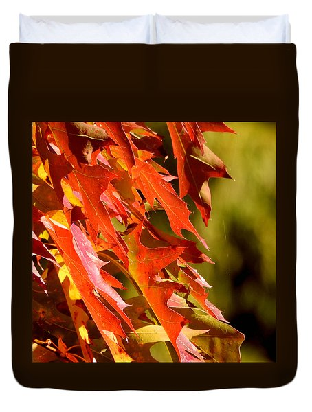 October Oak Leaves Duvet Cover
