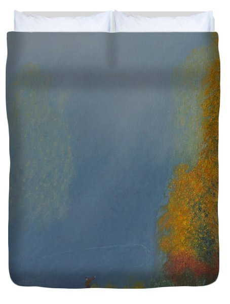 October On The River Duvet Cover by Stanza Widen