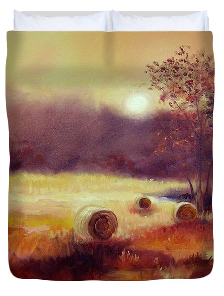 October Pasture Duvet Cover by Ginger Concepcion