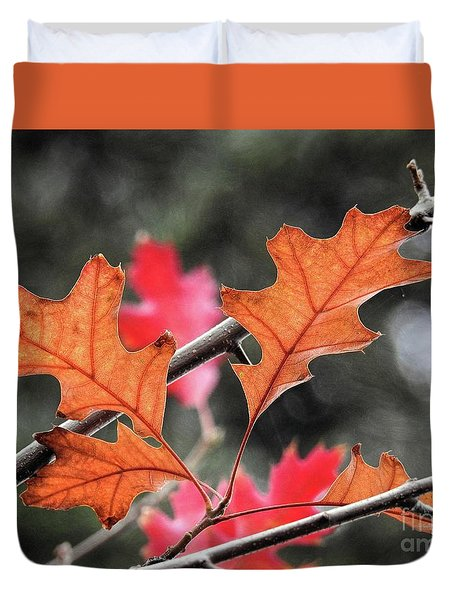 Duvet Cover featuring the photograph October by Peggy Hughes