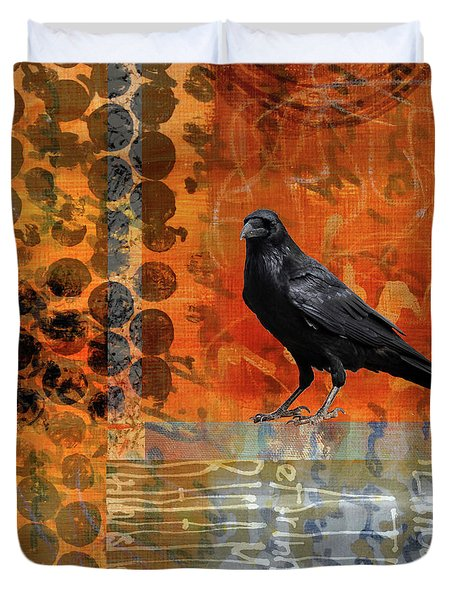 October Raven Duvet Cover