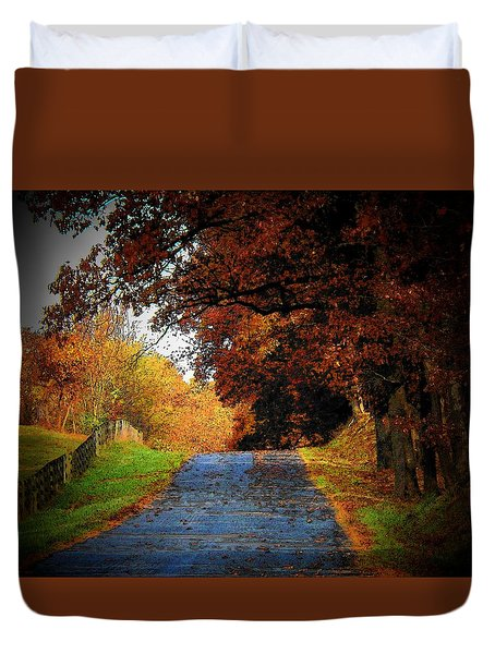 October Road Duvet Cover by Joyce Kimble Smith
