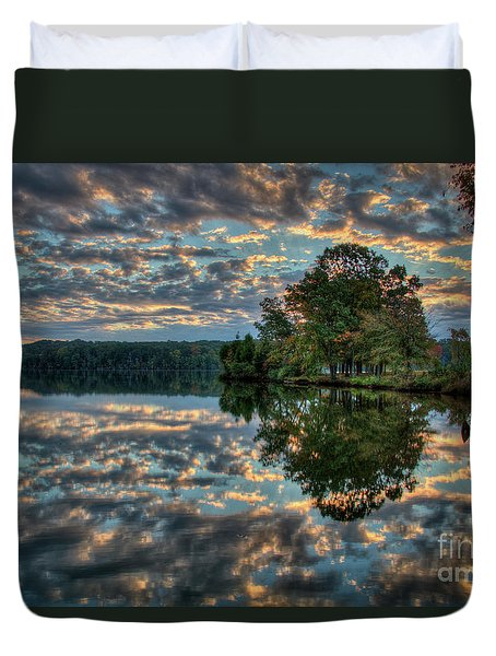Duvet Cover featuring the photograph October Skies by Douglas Stucky