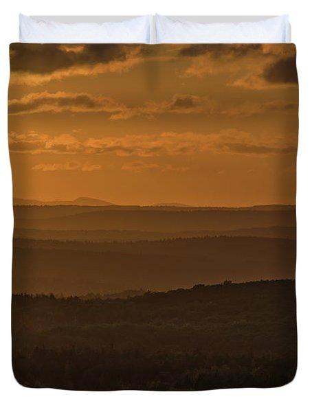 October Sunset In Acadia Duvet Cover