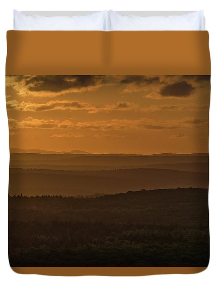 October Sunset In Acadia Duvet Cover