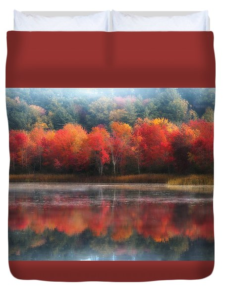 October Trees - Autumn  Duvet Cover by MTBobbins Photography