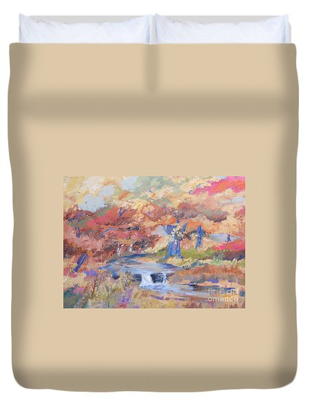 October Walk Duvet Cover