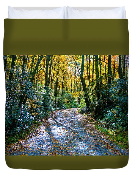 October's Path Duvet Cover